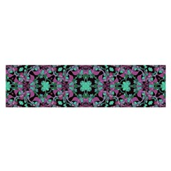 Floral Arabesque Print Satin Scarf (Oblong)