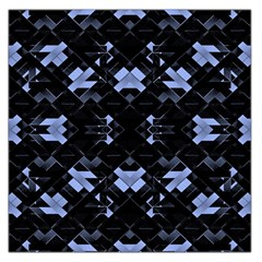 Geometric Futuristic Design Satin Scarf (Square)