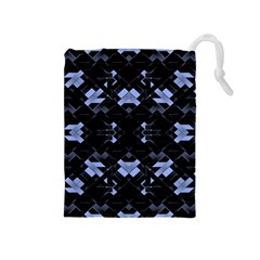 Futuristic Geometric Design Drawstring Pouch (medium)