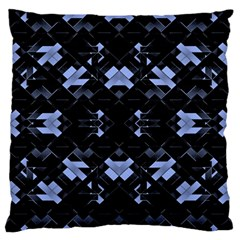 Futuristic Geometric Design Large Flano Cushion Case (Two Sides)