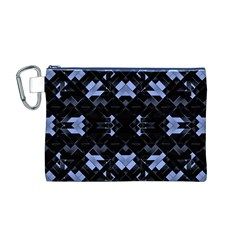 Futuristic Geometric Design Canvas Cosmetic Bag (Medium)