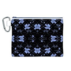 Futuristic Geometric Design Canvas Cosmetic Bag (Large)
