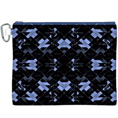 Futuristic Geometric Design Canvas Cosmetic Bag (XXXL)