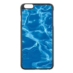 Water  Apple Iphone 6 Plus Black Enamel Case