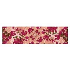 Vintage Floral Print Satin Scarf (oblong)