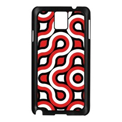 Waves and circles Samsung Galaxy Note 3 N9005 Case (Black)