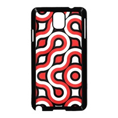 Waves and circles Samsung Galaxy Note 3 Neo Hardshell Case (Black)
