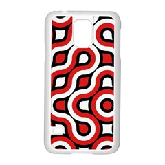 Waves and circles Samsung Galaxy S5 Case (White)