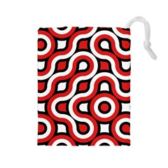 Waves and circles Drawstring Pouch (Large)