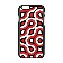 Waves and circles Apple iPhone 6 Black Enamel Case