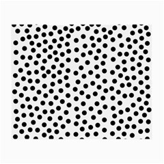 Black Polka Dots Glasses Cloth (small, Two Sided)