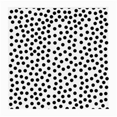 Black Polka Dots Glasses Cloth (medium, Two Sided)