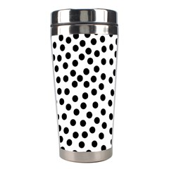 Black Polka Dots Stainless Steel Travel Tumbler
