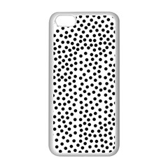 Black Polka Dots Apple iPhone 5C Seamless Case (White)