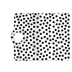 Black Polka Dots Kindle Fire HDX 8.9  Flip 360 Case