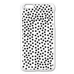 Black Polka Dots Apple iPhone 6 Plus Enamel White Case