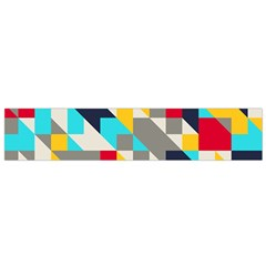 Colorful Shapes Flano Scarf (small)