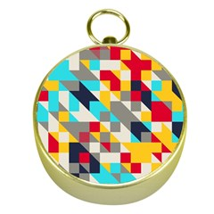 Colorful shapes Gold Compass