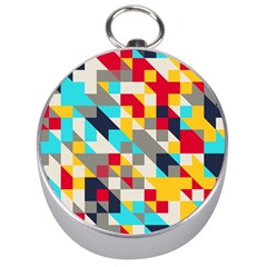 Colorful shapes Silver Compass