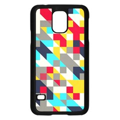 Colorful shapes Samsung Galaxy S5 Case (Black)