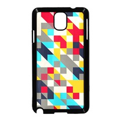 Colorful shapes Samsung Galaxy Note 3 Neo Hardshell Case (Black)
