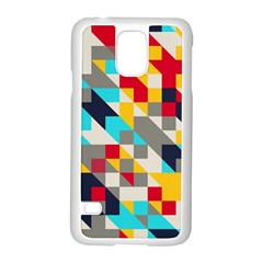 Colorful Shapes Samsung Galaxy S5 Case (white)