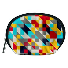 Colorful Shapes Accessory Pouch (medium)