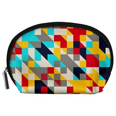 Colorful Shapes Accessory Pouch (large)