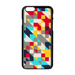 Colorful shapes Apple iPhone 6 Black Enamel Case