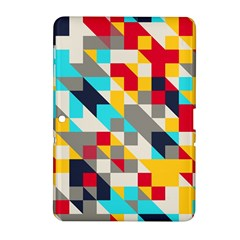 Colorful shapes Samsung Galaxy Tab 2 (10.1 ) P5100 Hardshell Case