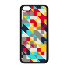 Colorful shapes Apple iPhone 5C Seamless Case (Black)