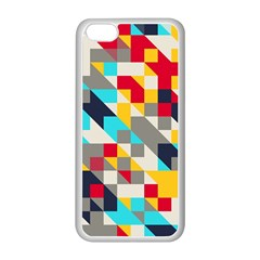 Colorful Shapes Apple Iphone 5c Seamless Case (white)