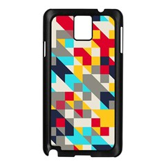 Colorful Shapes Samsung Galaxy Note 3 N9005 Case (black)