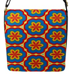 Floral Pattern Flap Closure Messenger Bag (small)