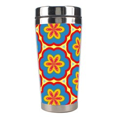 Floral Pattern Stainless Steel Travel Tumbler