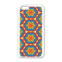 Floral pattern Apple iPhone 6 White Enamel Case