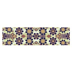 Modern Fancy Baroque Print Satin Scarf (Oblong)