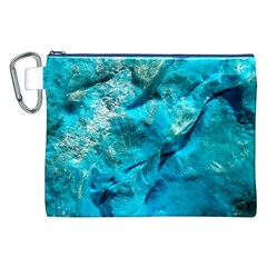 Turquoise Canvas Cosmetic Bag (XXL)