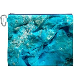 Turquoise Canvas Cosmetic Bag (XXXL)