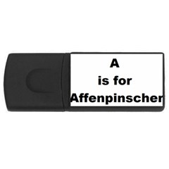 A Is For Affenpinscher 1GB USB Flash Drive (Rectangle)