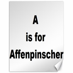 A Is For Affenpinscher Canvas 18  x 24  (Unframed)