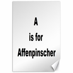 A Is For Affenpinscher Canvas 20  x 30  (Unframed)
