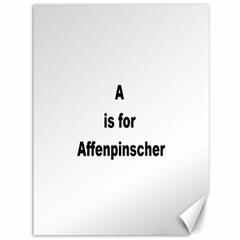 A Is For Affenpinscher Canvas 36  x 48  (Unframed)