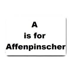 A Is For Affenpinscher Small Door Mat