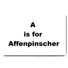 A Is For Affenpinscher Large Door Mat
