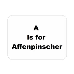 A Is For Affenpinscher Double Sided Flano Blanket (Mini)
