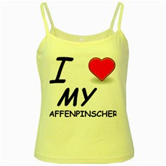 Affen Love Yellow Spaghetti Tank