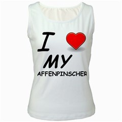 Affen Love Women s Tank Top (White)