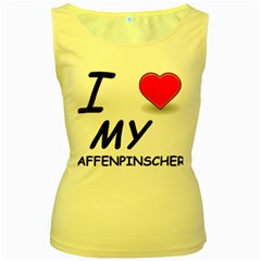 Affen Love Women s Tank Top (Yellow)