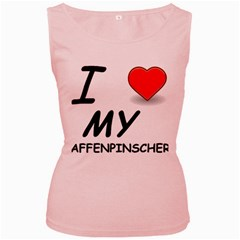 Affen Love Women s Tank Top (Pink)